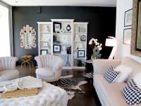 Try it: I painted my living room wall black  Jaimee Rose ...