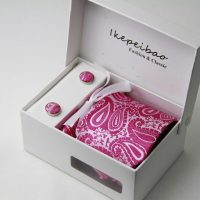 Paisley Fuchsia Tie Set | Jaiss Fashion Limited