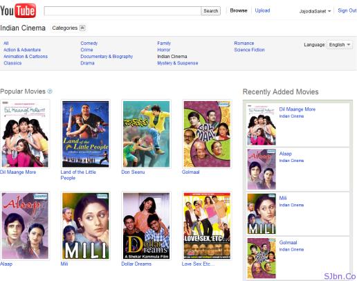 YouTube Moves - Indian Cinema