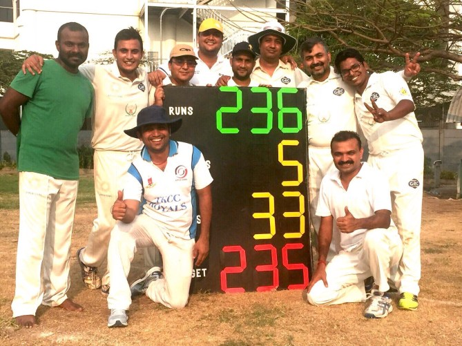 Hitesh Malhotra & Neeraj Chaddha shine in TKCC's upset win over KLN WISCI at GMIS