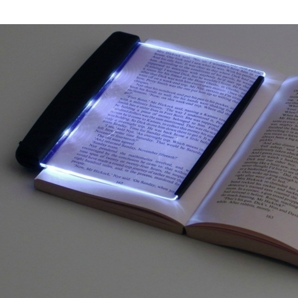 Rumah Toko Led Light Wedge Panel Book Reading Lamp - Black