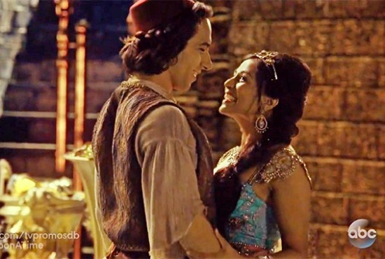 """Aladdin & Jasmine made their """"Once Upon A Time"""" debut tonight. (Photo property of ABC)"""