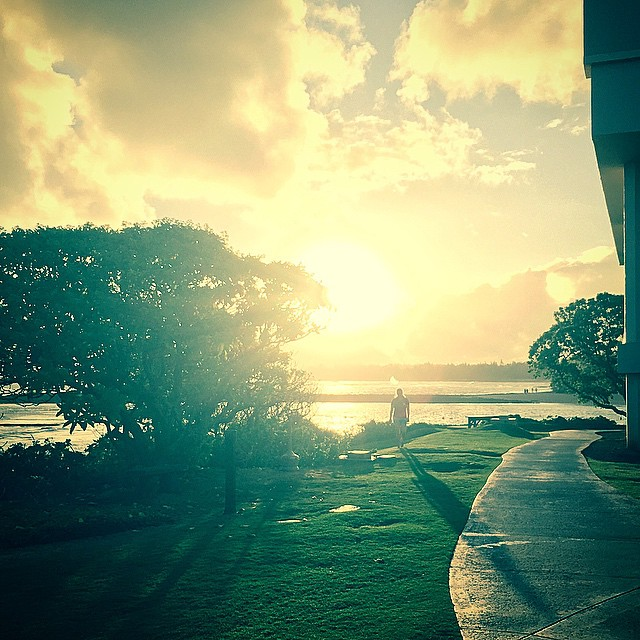 Checked in at Turtle Bay Resort