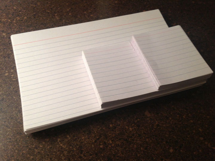 writing with notecards Jake Vander Ark