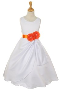 Orange Flower Girl Dresses | All Dress