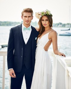 Navy Sterling Ultra Slim Wedding Suit-Michael Kors