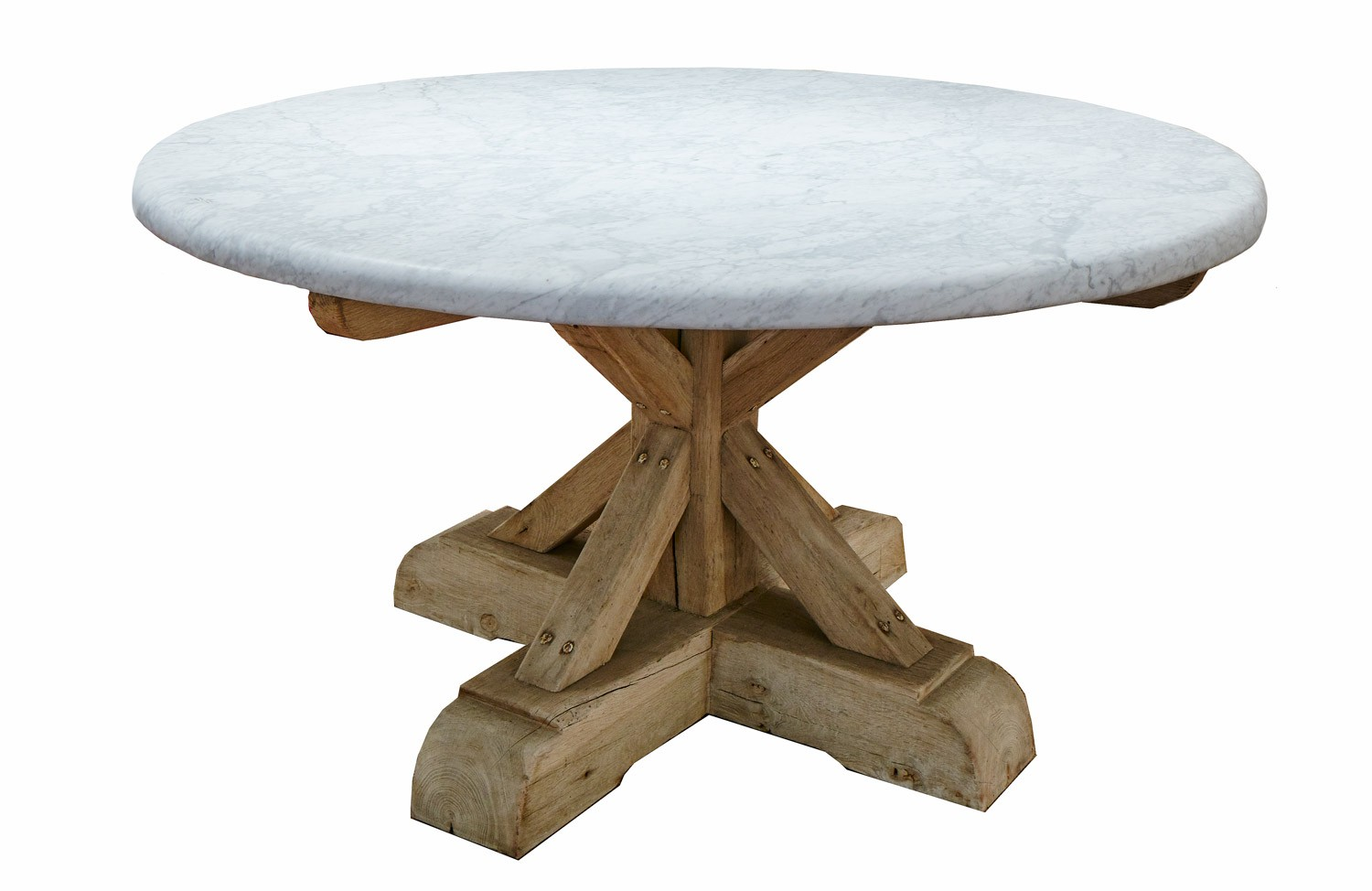 Round Marble Top Dining Table Round Dining Table White Carrara Marble Top And French Oak