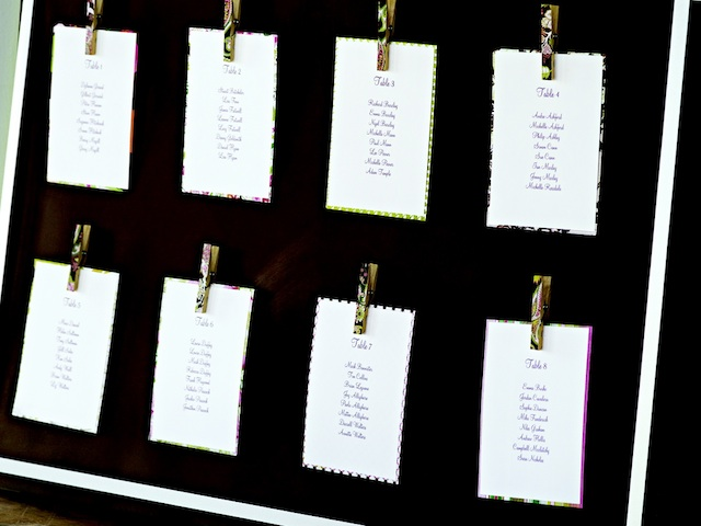 DIY Project Magnetic Clothespin Seating Chart - Jamaica Weddings Blog