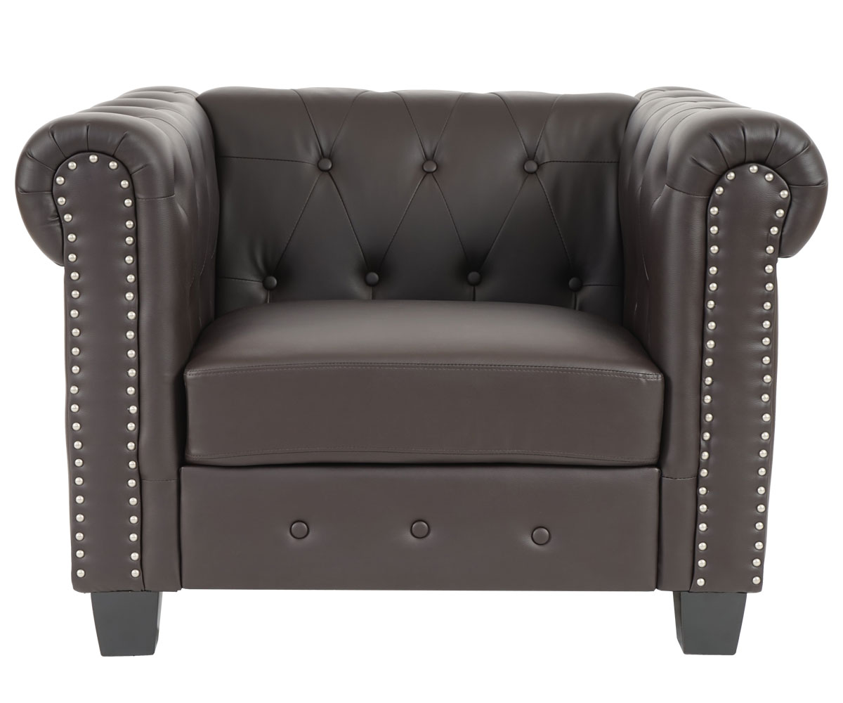 Lounge Sessel Chesterfield Chesterfield Lounge Sessel Eckige Füsse Braun Jamb Ch