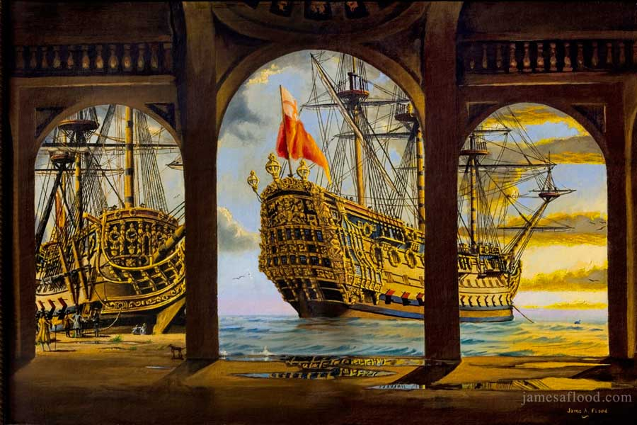 Prints Of Paintings On Canvas Paintings Of 17th Century Tall Ships, Ships Of The Line