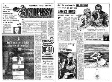 Octopussy, Daily Express, 4 octobre 1965