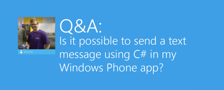 How to: Send text messages from a universal Windows Phone app