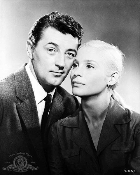 Robert Mitchum and Ingrid Thulin. Foreign Intrigue (Sheldon Reynolds, 1956).