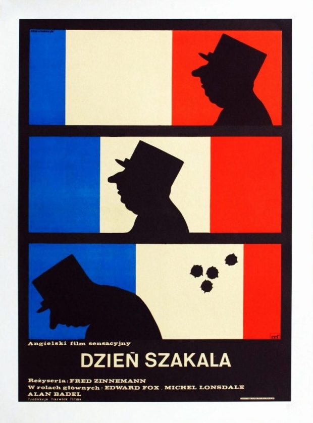 Dzień Szakala (The Day of the Jackal), 1973 - Polish Movie Poster - Designer: Eryk Lipinski
