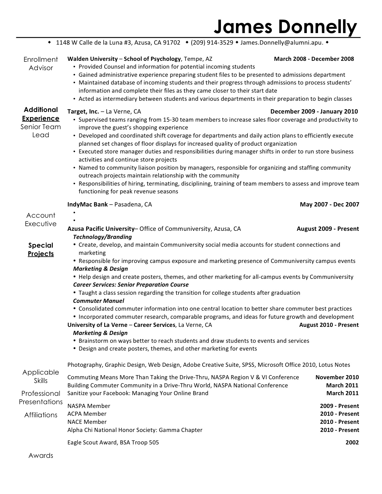 Resume For New Career Akbaeenw