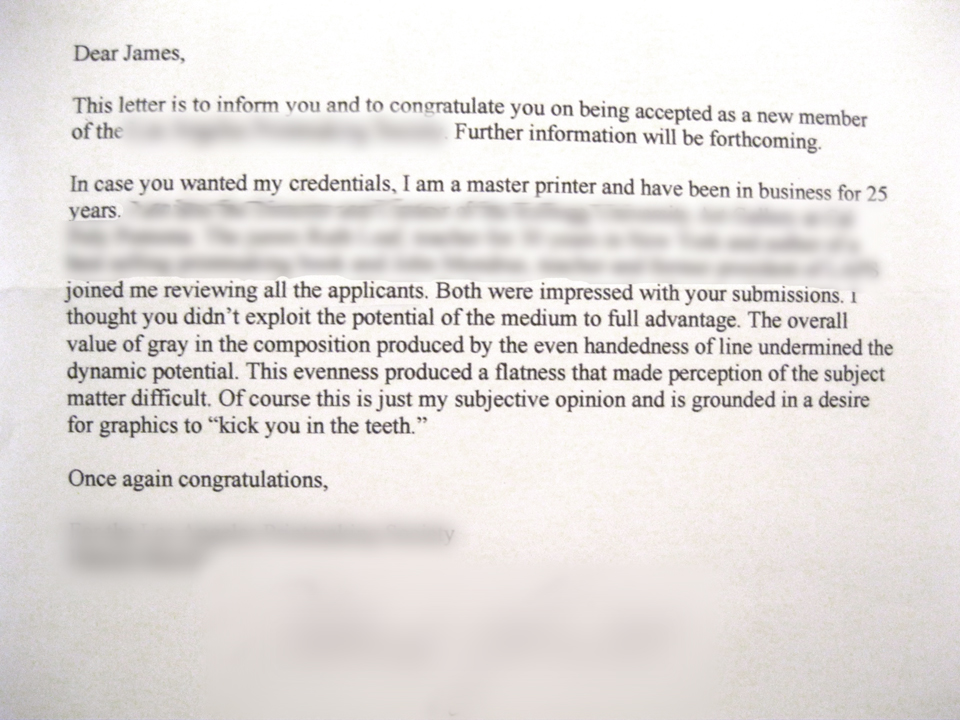 The joys of rejection and acceptance letters \u2013 JAMES EHLERS