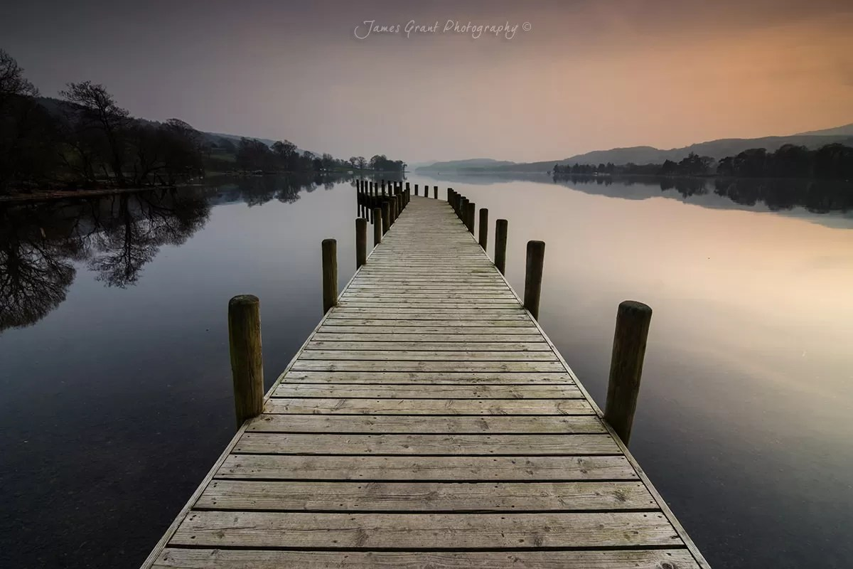 Fall Wooden Wallpaper Reflecting Lake District Photography James Grant