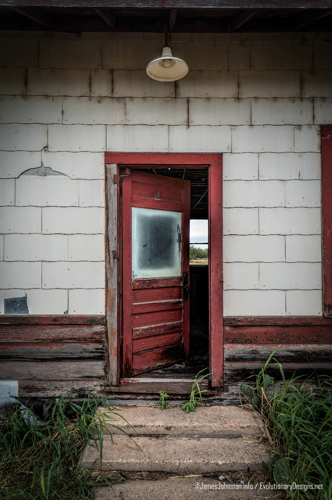 The Abandoned Santa Fe Rail Depot In Hamlin Texas