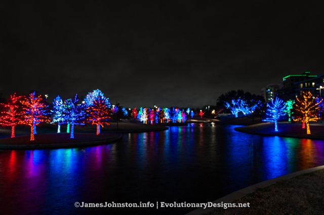 The Christmas Lights at Vitruvian Park in Addison, Texas