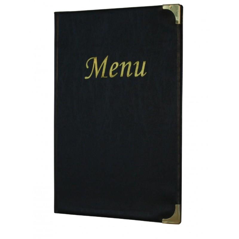 A4 Menu Holder Pu Black 8 Pages Table Service James Kidd