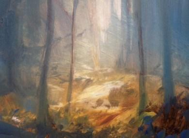 Autumn Haze, Oil, 9x7cm