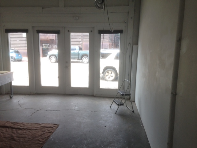 A blank canvas, the new studio space.