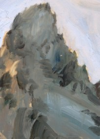 """Grand Peak Study"" Oil, 9x6cm"