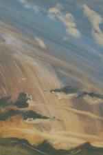 """""""Setting Sun"""", Oil, 9x6cm"""