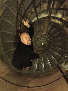 Spiral Staircase Descending from Arc de Triomphe Paris