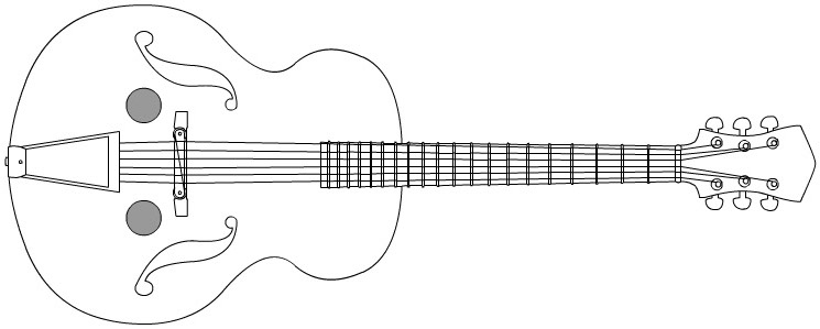 ukulele string diagram