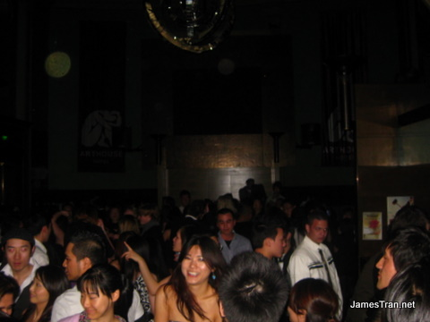 Crowd shot of the main room at Arthouse - 11:50PM