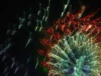Pyroglyph 5610, enhanced photograph of fireworks display