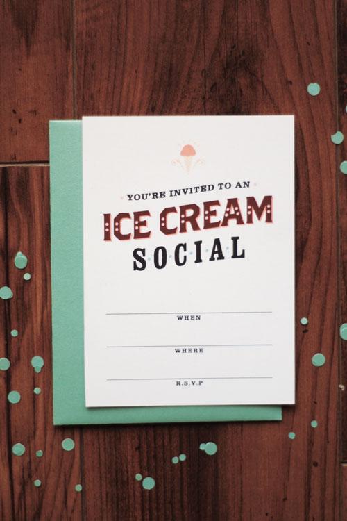 For the Taking Printable Ice Cream Social Invitation \u2013 Jamie