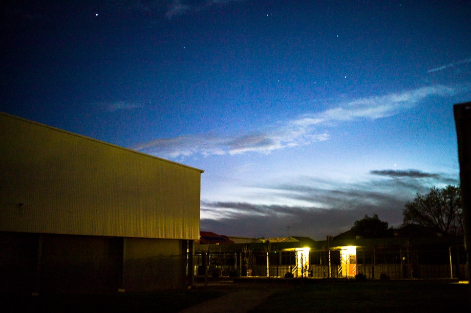 Blue skies, stars, blue hour, melbourne, australia, Jamie Chan, No Foreign Lands, Leica, Photographer