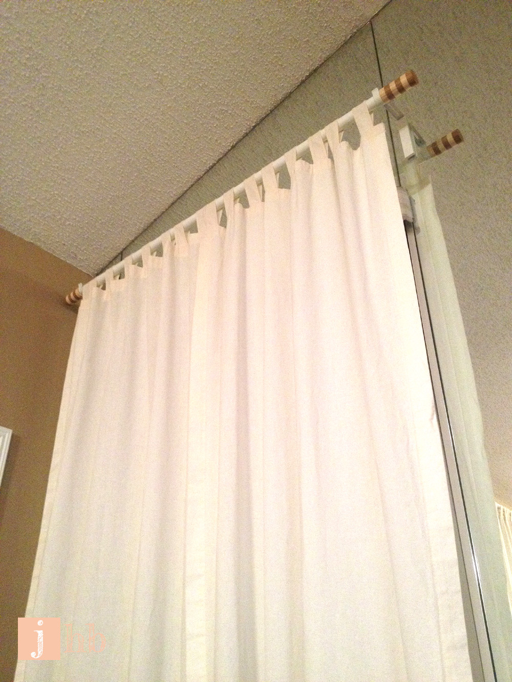 Hanging Curtains On Walls Without Windows How To Hang Curtains Like Macgyver Jamie S Home Blog