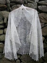 Shetland Lace in Natural Shetland Wool Shades.