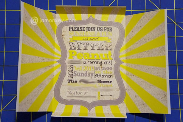 Free DIY Self Mailing - Folding Invitations Template JaMonkey by