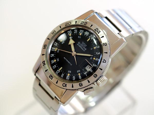 グリシン パイロットウォッチ エアーマン 24時間表示時計 グリシン修理用の箱・ギャランティー付