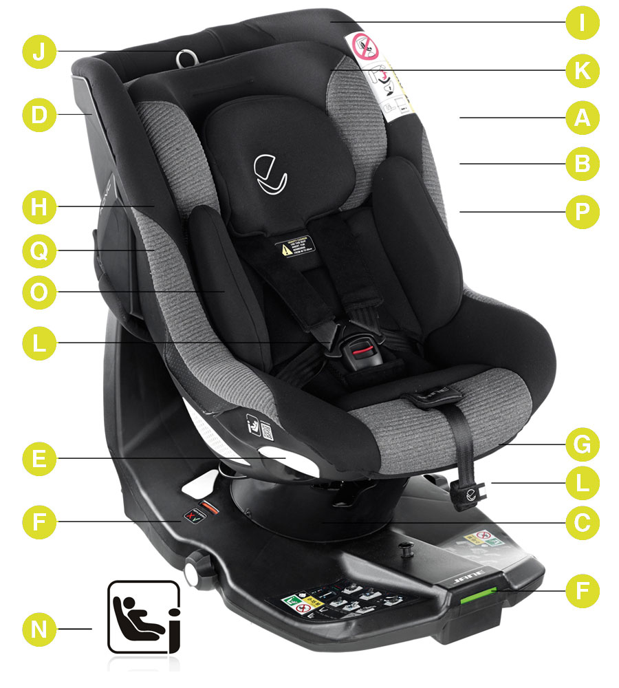 Baby Car Seat Fitting Service Ikonic Rotating Isize Car Seat Jet Black