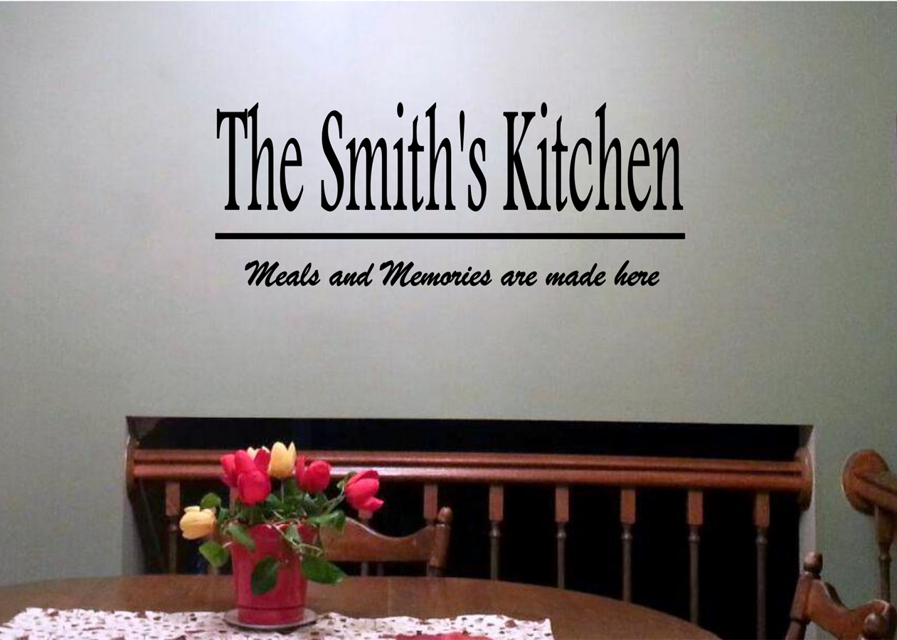 Personalized laundry kitchen or bath vinyl quotes jane
