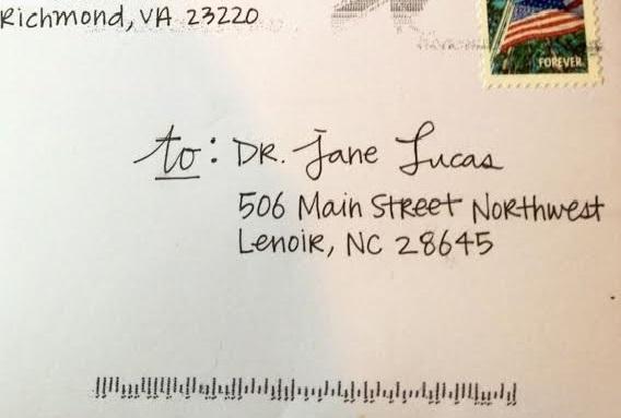Letter Writing Jane Lucas