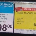 &quot;Home Teacher&quot;  do que eles precisam para aprender a copiar um simples texto da embalagem de um produto qualquer.