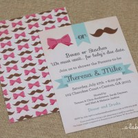 Bows or Staches Baby Shower