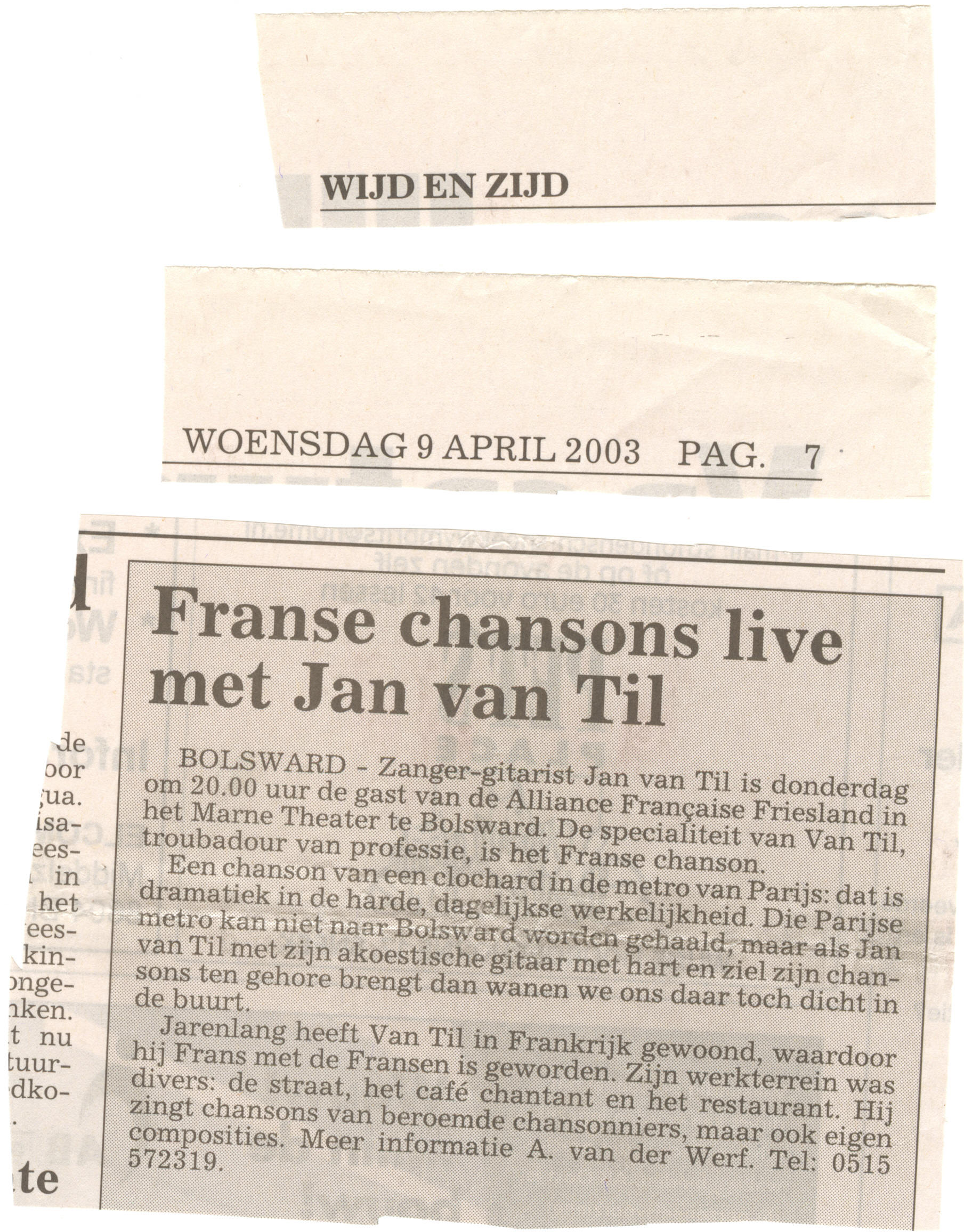 Franse Chansons Recensies Dagbladen En Websites Troubadour Zanger