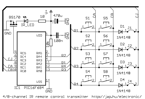 infrared circuits for remote control by jap