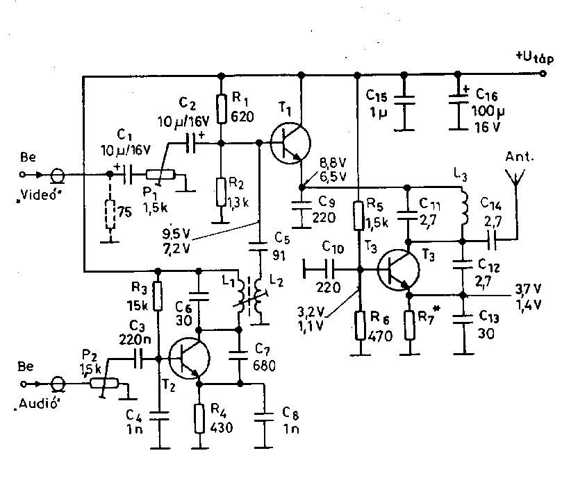 circuit schematics circuit diagrams including video transmitter