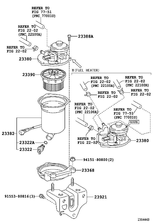 fuel filter 2007 camry hybrid