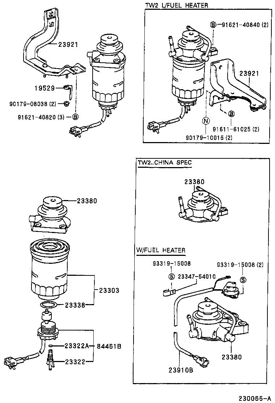 toyota fuel filter 16106195