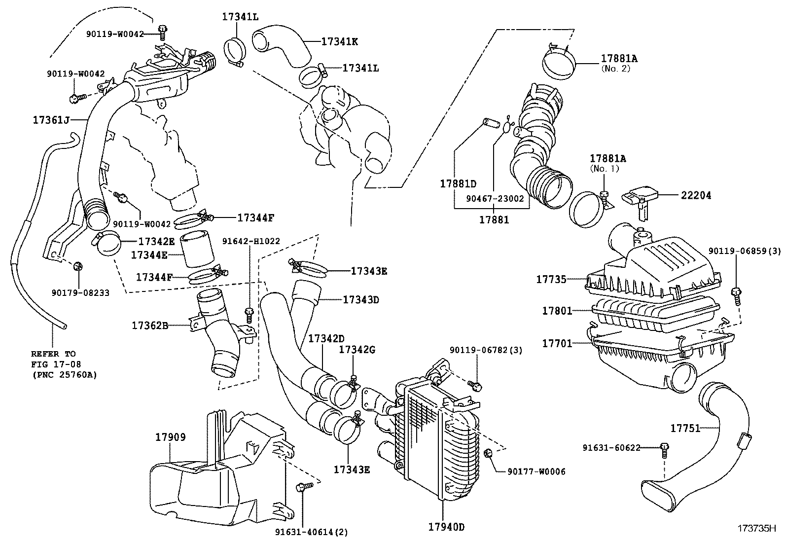 toyota 2 engine parts diagram