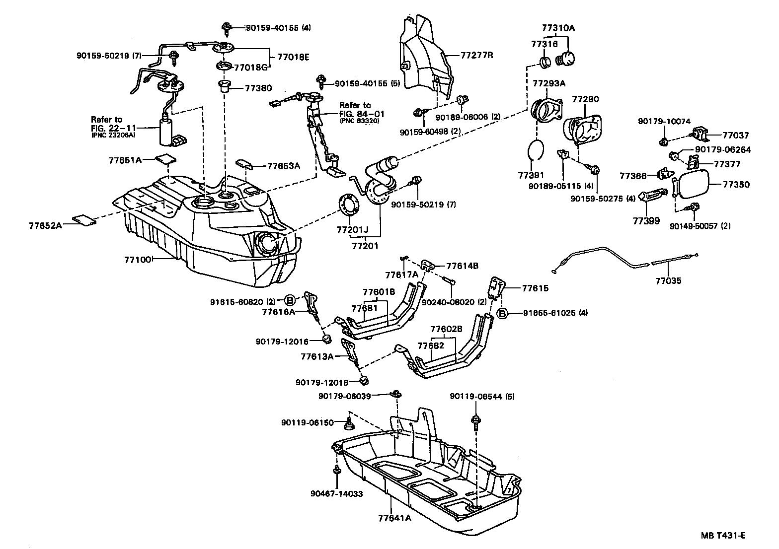 1999 mazda b4000 fuel filter location